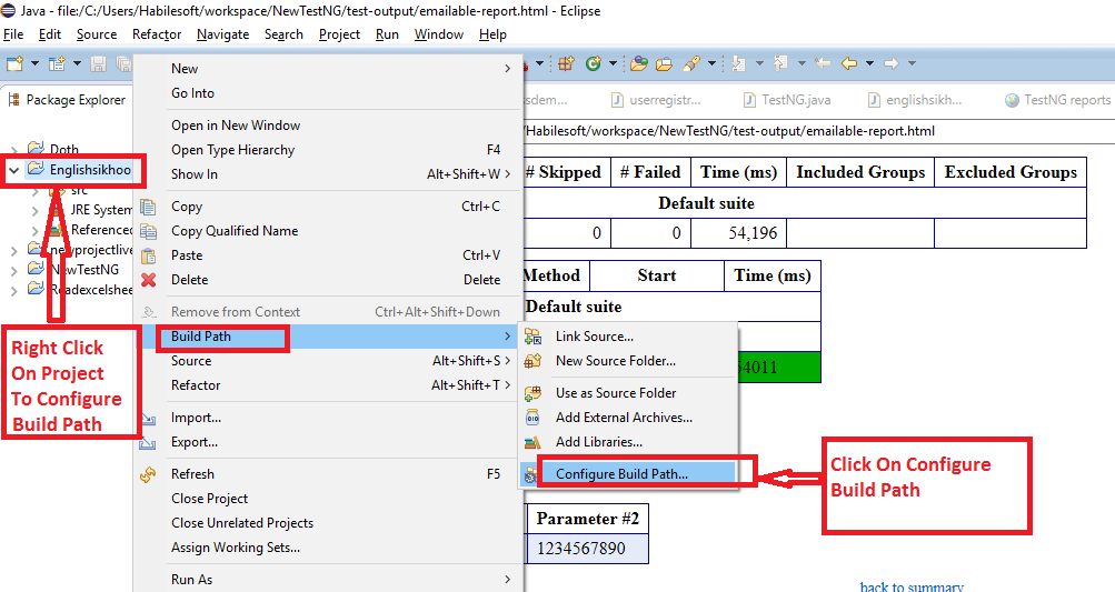 open downloaded project in eclipse